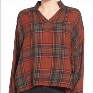 Madewell Highroad Plaid Popover Multicolor Large